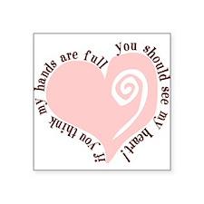 Full Hands, Full Heart Oval Sticker