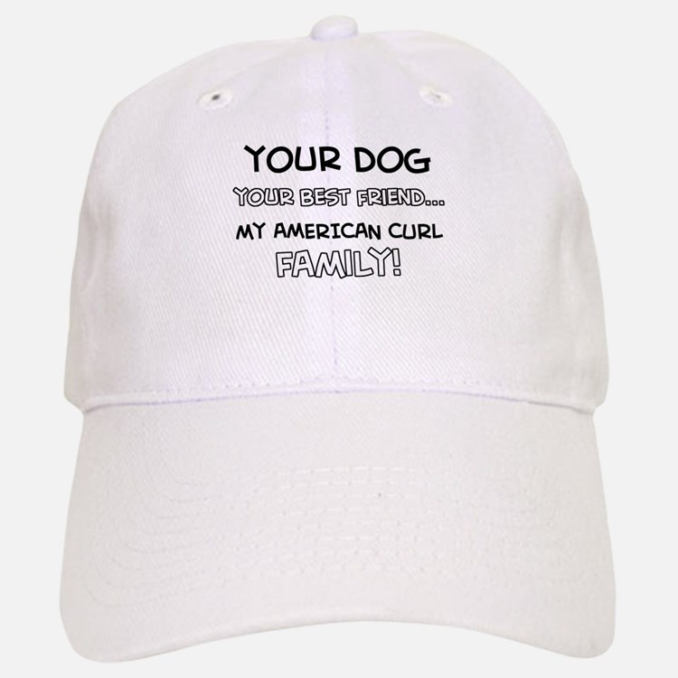 American Curl Cat designs Baseball Baseball Cap