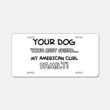 American Curl Cat designs Aluminum License Plate