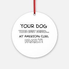 American Curl Cat designs Ornament (Round)