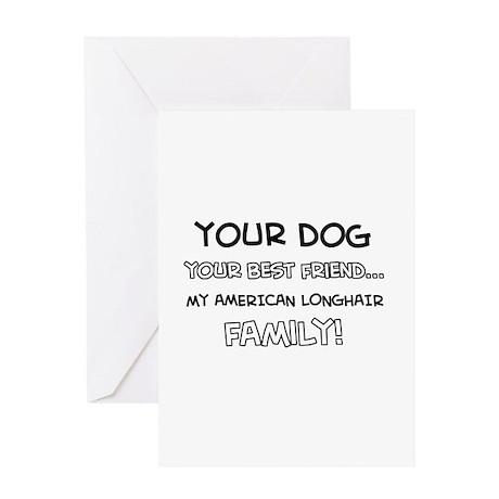 American Longhair Cat designs Greeting Card