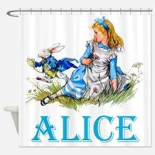 ALICE IN WONDERLAND - BLUE Shower Curtain