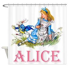 ALICE IN WONDERLAND - PINK Shower Curtain