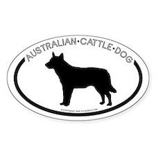 """Australian Cattle Dog"" White Oval Decal"