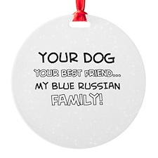 Blue Russian Cat designs Ornament