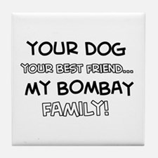 Bombay Cat designs Tile Coaster