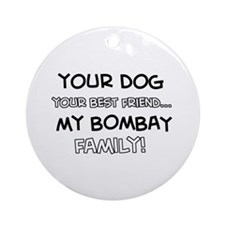 Bombay Cat designs Ornament (Round)