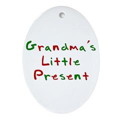 Grandma's Little Present Oval Ornament