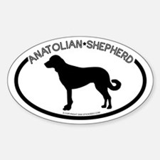 """Anatolian Shepherd"" White Oval Decal"
