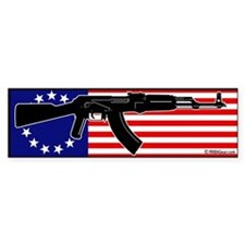 AK-47 and flag