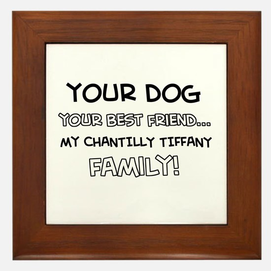 Chantilly Tiffany Cat designs Framed Tile