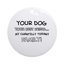Chantilly Tiffany Cat designs Ornament (Round)