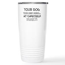 Chartreux Cat designs Travel Coffee Mug