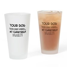 Chartreux Cat designs Drinking Glass