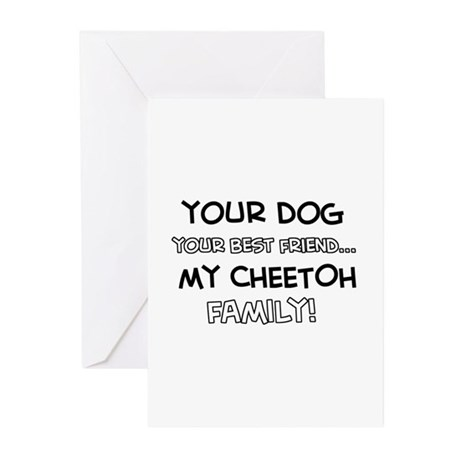 Cheetoh Cat designs Greeting Cards (Pk of 10)