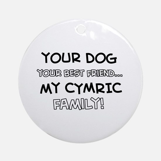 Cymric Cat designs Ornament (Round)