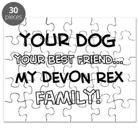 Devon Rex Cat designs Puzzle