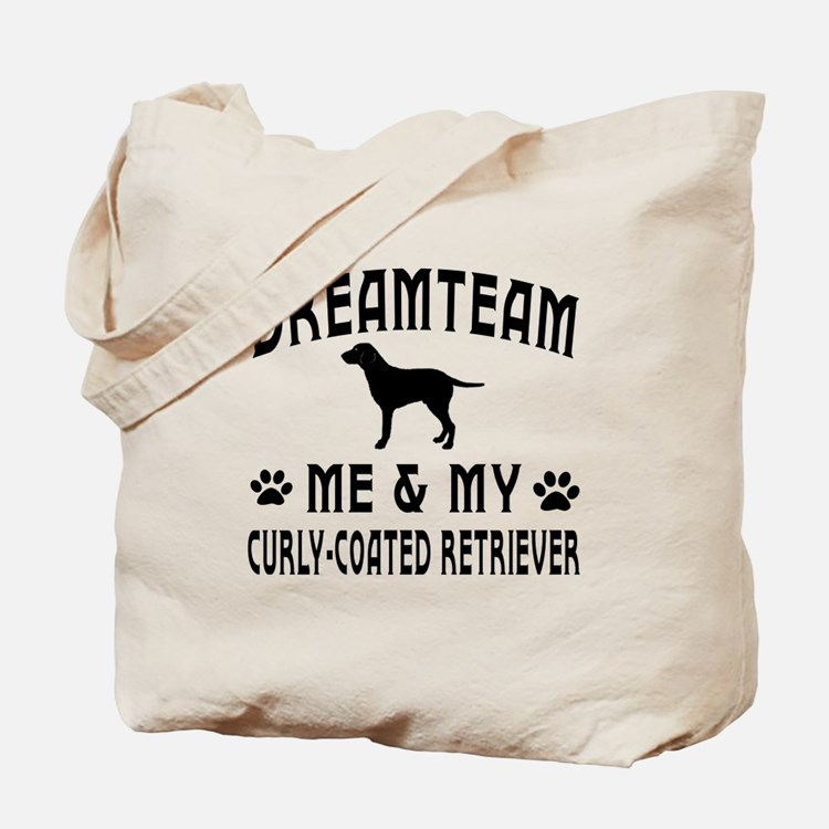 Curly-Coated Retriever Dog Designs Tote Bag