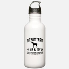 Curly-Coated Retriever Dog Designs Water Bottle