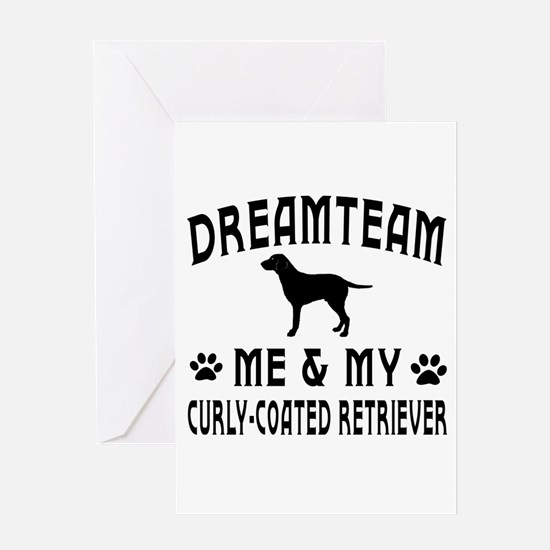 Curly-Coated Retriever Dog Designs Greeting Card