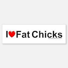 Fat Chicks Bumper Bumper Sticker
