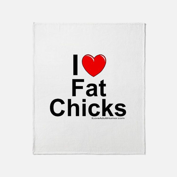Fat Chicks Throw Blanket