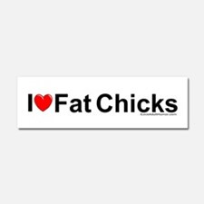 Fat Chicks Car Magnet 10 x 3