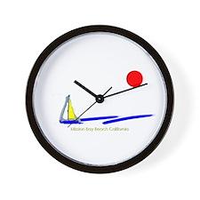 Mission Bay Wall Clock