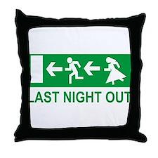 bachelor party Throw Pillow