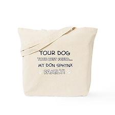 Don Sphynx Cat designs Tote Bag