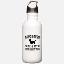 Dandie Dinmont Terrier Dog Designs Sports Water Bottle
