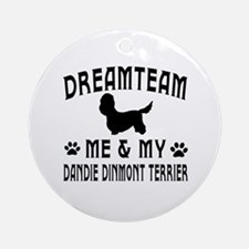 Dandie Dinmont Terrier Dog Designs Ornament (Round