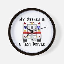 Taxi Driver Nephew Wall Clock