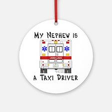 Taxi Driver Nephew Ornament (Round)