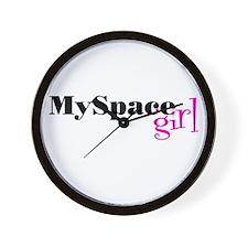MySpace Girl Wall Clock