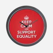 K C Support Equality Wall Clock