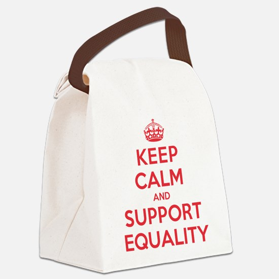 K C Support Equality Canvas Lunch Bag