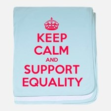 K C Support Equality baby blanket