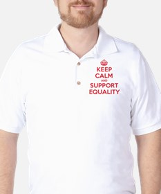 K C Support Equality Golf Shirt