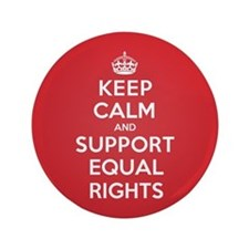 "K C Support Equal Rights 3.5"" Button"