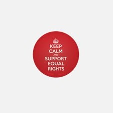 K C Support Equal Rights Mini Button (10 pack)