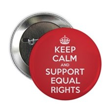 """K C Support Equal Rights 2.25"""" Button (10 pack)"""