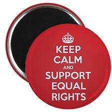K C Support Equal Rights Magnet