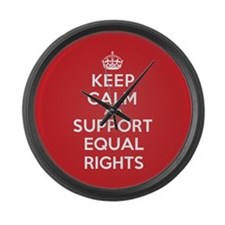 K C Support Equal Rights Large Wall Clock