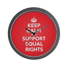 K C Support Equal Rights Wall Clock