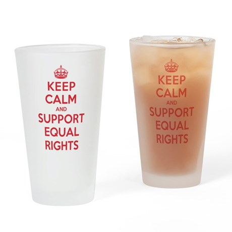 K C Support Equal Rights Drinking Glass