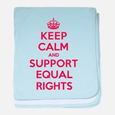 K C Support Equal Rights baby blanket