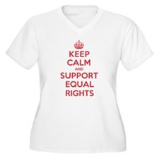 K C Support Equal Rights Plus Size T-Shirt
