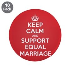 """K C Support Equal Marriage 3.5"""" Button (10 pack)"""