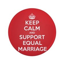 "K C Support Equal Marriage 3.5"" Button"